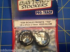 Pro Track 329 Front  Daytona Stockers 27mm 10mm Tires 1/8 axle Mid America
