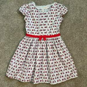 Gymboree-Girls-EUC-Ciao-Puppy-Dress-w-scooter-pattern-Sz-10