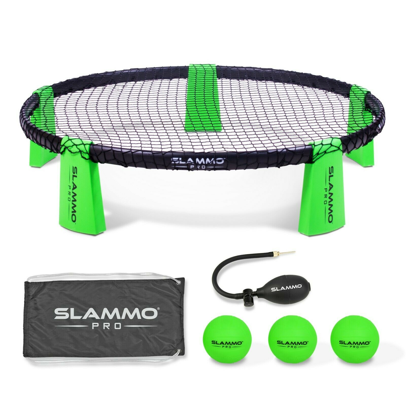 GoSports SLAMMO PRO Outdoor Yard Game Set with 3 PRO Balls, Pump and Case