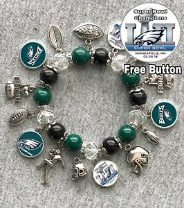 Image Is Loading Philadelphia Eagles Super Bowl Champions 2018 Charm Bracelet