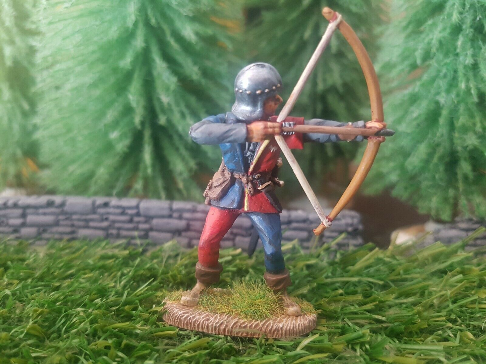 English Archer Wars of the pinks metal cast Painted figure