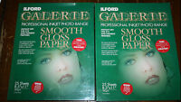 Ilford Galerie Professional Inkjet Photo Range Smooth Gloss Paper 8.5x11 45 Ct