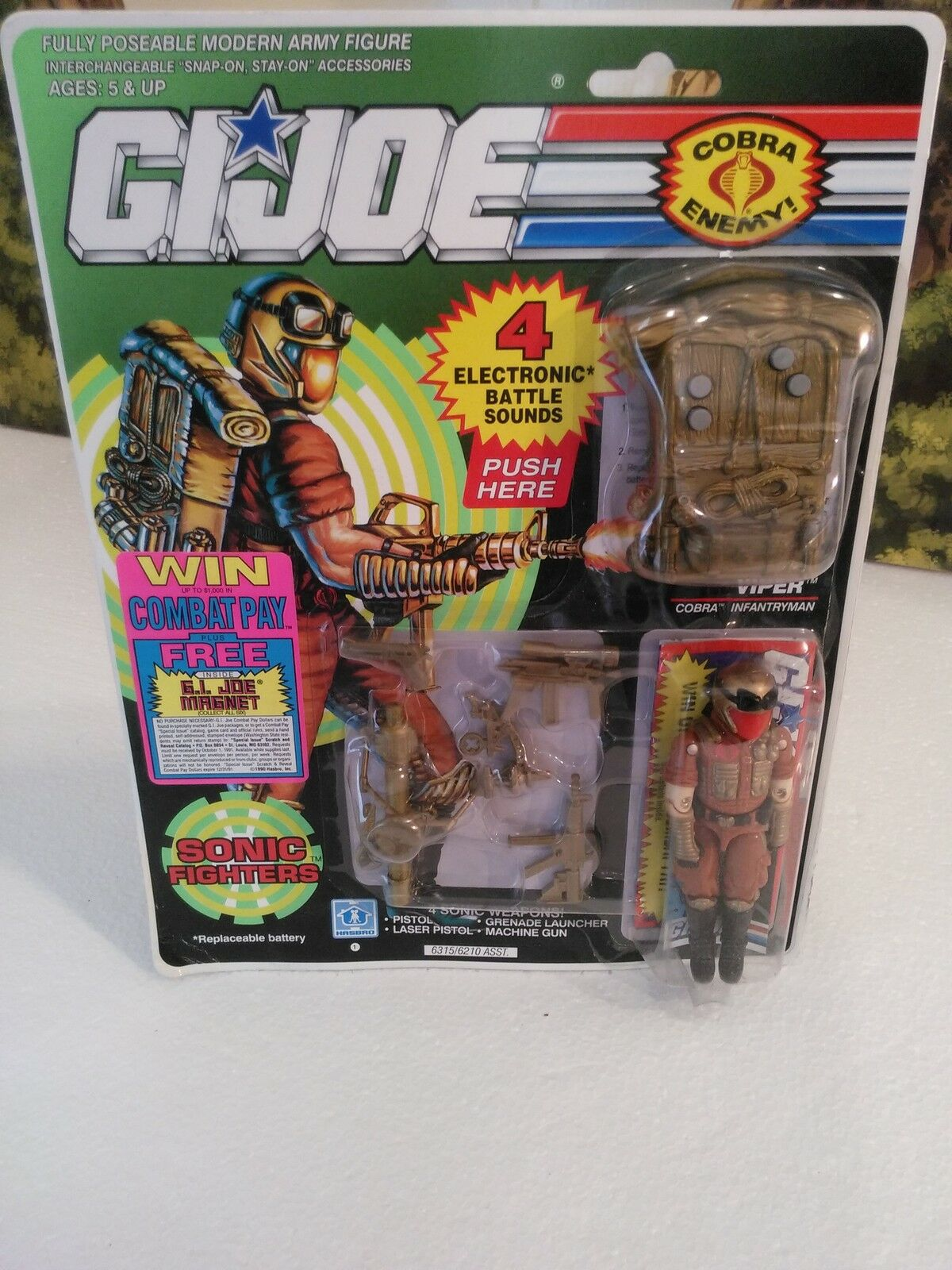 Sonic Fighters: 1990 Cobra Infantryman: COBRA VIPER(v3):100% CMP/MOC