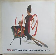 "TEK 9 - IT'S NOT WHAT YOU THINK IT IS 2x12"" Record Set DnB/Hip-Hop/Soul BELGIUM"