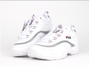 07798b9b3aa17 Details about New FILA Ray Men's Shoes Athletic Running White FS1SIA1165X  WWT US Size 4-10
