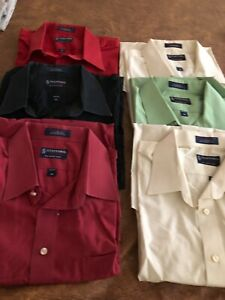 Men/'s Short Sleeve Dress Shirt Solid Classic Fit Button Up Size S,2XL 5XL New