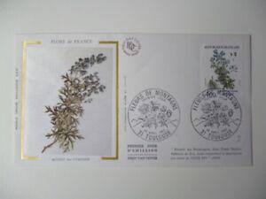ENVELOPPE-1er-JOUR-FDC-SOIE-1983-FLORE-DE-FRANCE-ACONIT-OBLIT-PJ-TOULOUSE