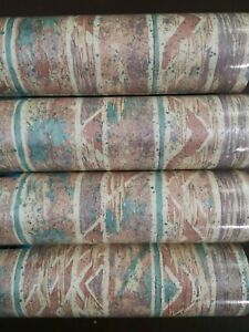 Wash Strip Wallpaper Vintage Retro 70s Norwall pre pasted vinyl Roll 10mt Forest