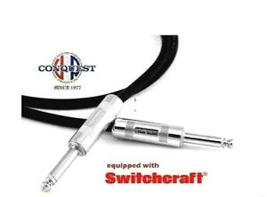 25-034-Instrument-Cable-Guitar-Cable-Switchcraft-Ends-SHIELDED-Conquest-Sound-HUSH