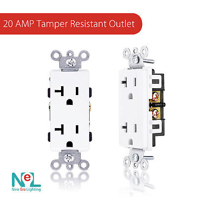 20A Tamper Resistant TR GFCI Outlet Receptacle 20 Amp ALMOND Childproof 5 pc
