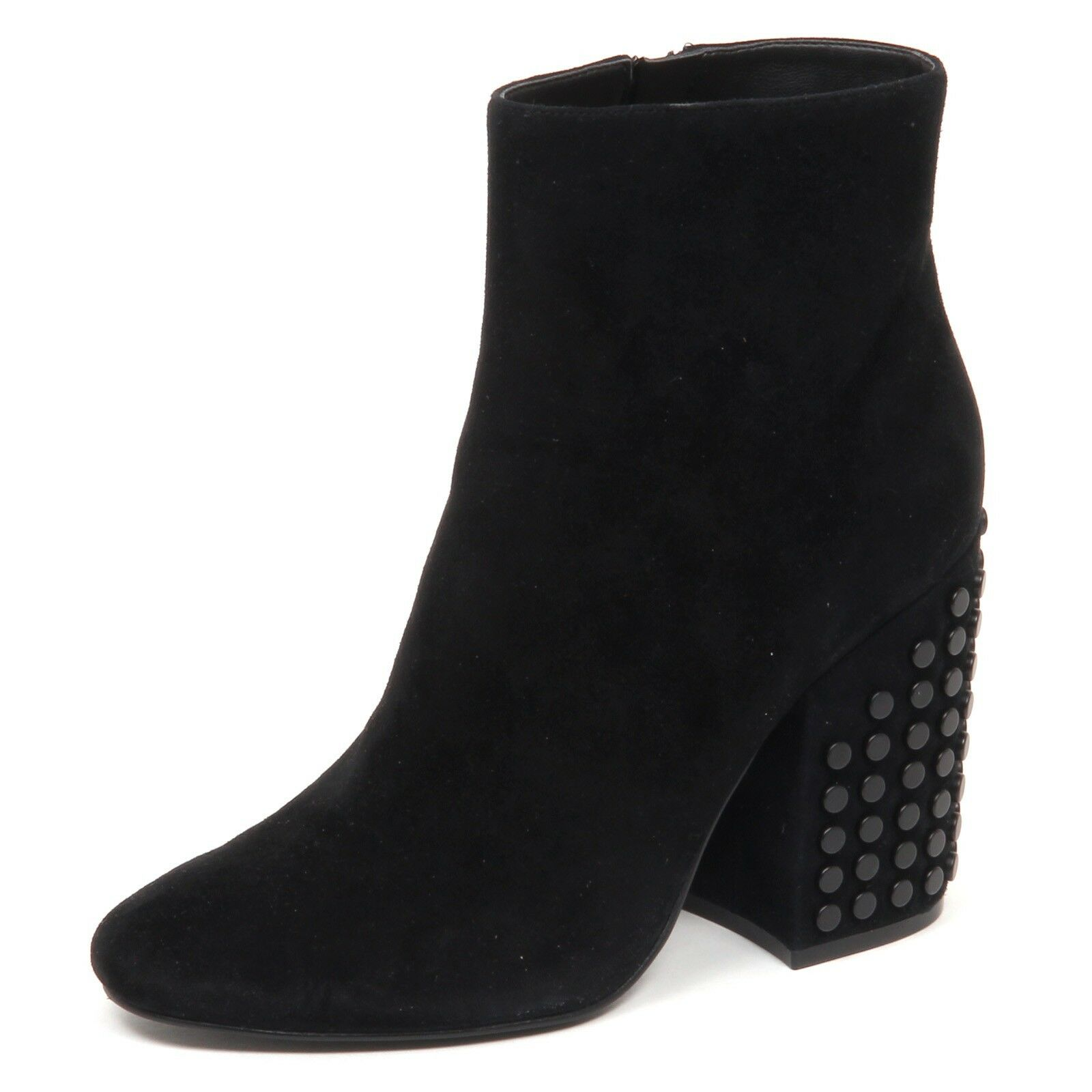 E0456 tronchetto donna nero KENDALL + KYLIE suede boot shoe woman