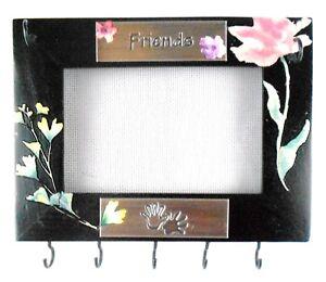 814 x 6 Friends Hanging Black Wood Frame Jewelry Organizer