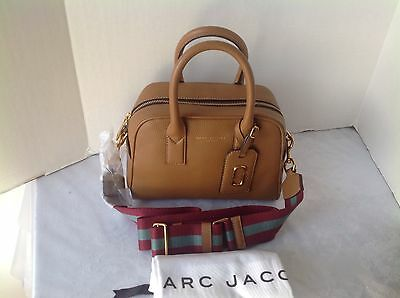 MARC JACOBS GOTHAM CITY BAULETTO SMALL SATCHEL  MAPLE TAN LEATHER MSRP $450.00