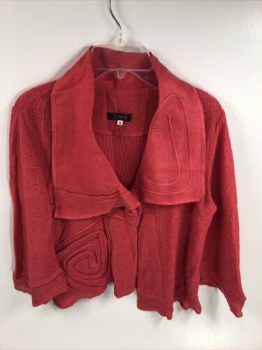 Jaskar  Woman's Pink Sweater Asymmetrical Square B