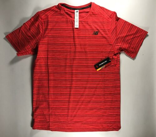 Men/'s New Balance Red Novelty Striped Shirt Size XL NWT