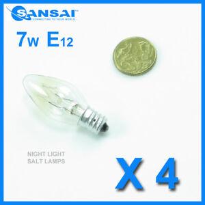 4-x-Sansai-7W-240V-E12-Replacement-Bulb-Clear-for-Night-Light-DB-458-DB-459
