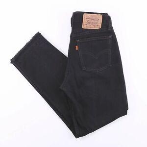 Vintage-LEVI-039-S-882-02-Black-Straight-Fit-ORANGE-TAB-Mens-Boyfriend-Jeans-W29-L28