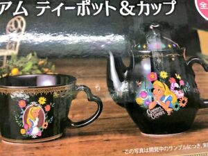 Details About Disney Alice In The Wonderland Premium Teapot Cup Set Cheshire Cat Cafe Pot