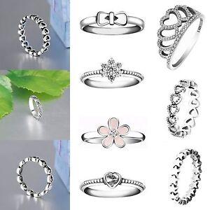 Brand-Design-Zircon-Silver-Fashion-Woman-Wedding-Rings-New-925-Jewelry-Size-5-9