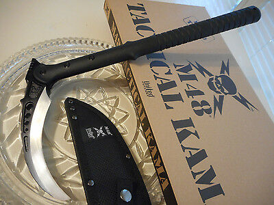 "M48 Tactical Kama Claw Sickle Spike Knife Axe 2Cr13 SS w Sheath 15 1/2"" OA Black"