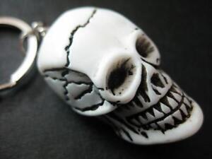 12 key ring NEW Bone POWDER SKULL KEYCHAIN punk gothic alternative tribal horror