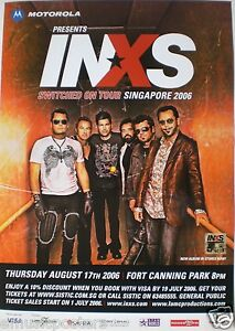 """INXS 2006 """"SWITCHED ON TOUR"""" SINGAPORE CONCERT POSTER ..."""