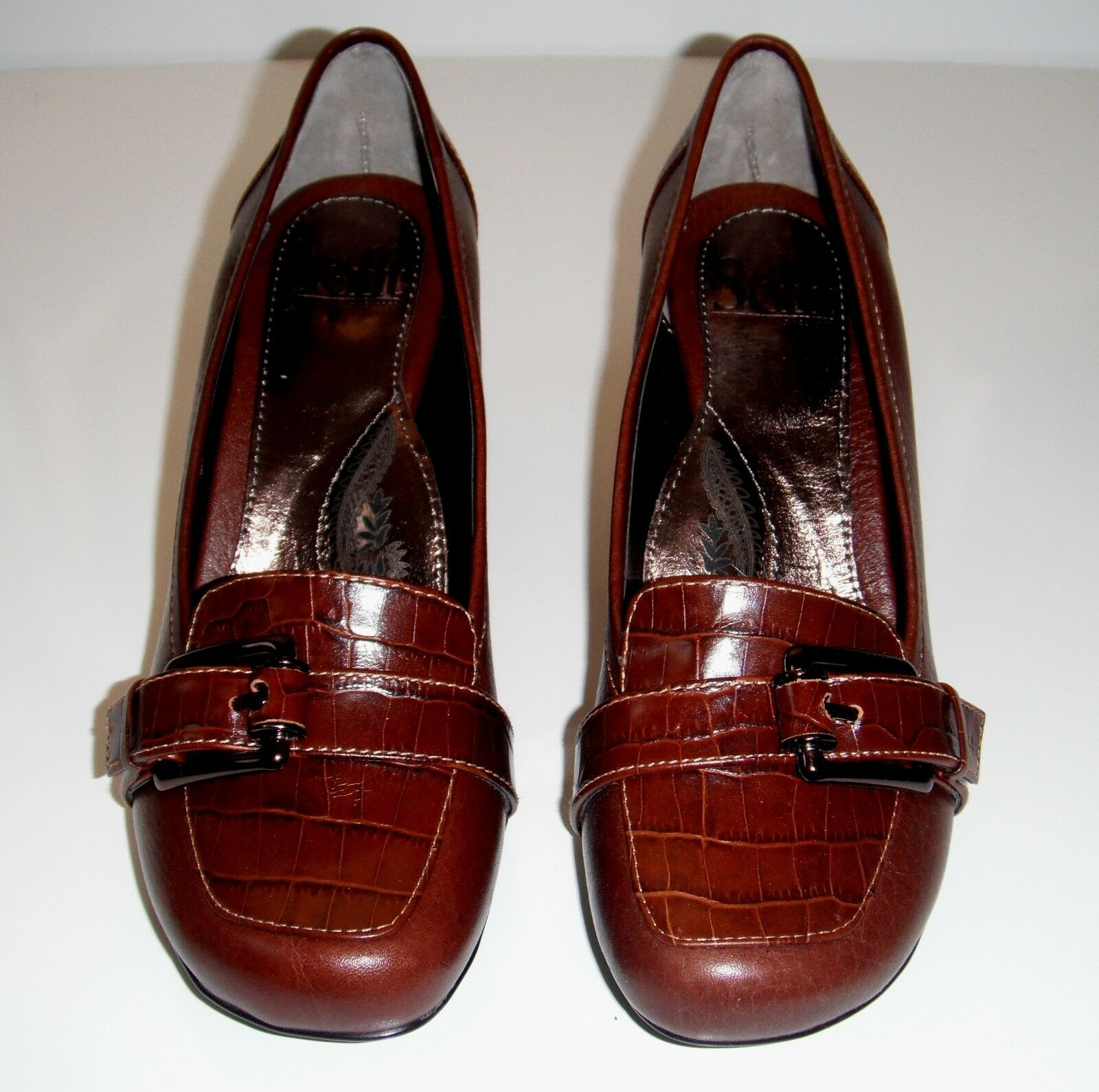 115 NIB Sofft Marilyn Dark Pine Braun Leder Classy Schuhe sz 8.5