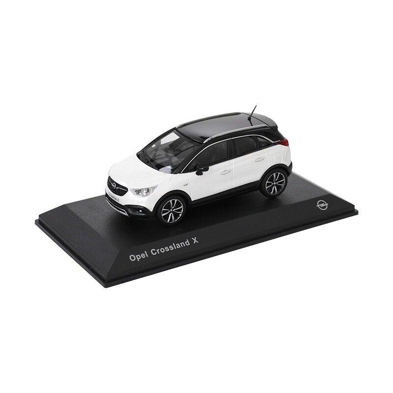 Opel Crossland x Voiture Miniature 1 43 Modèle de collection Neige Blanc oc11017