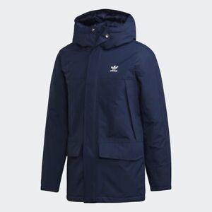 Desgastar Fanático Tanzania  NEW adidas Originals PADDED PARKA - NAVY ED5836 Men's Jacket Size M MSRP  $150   eBay