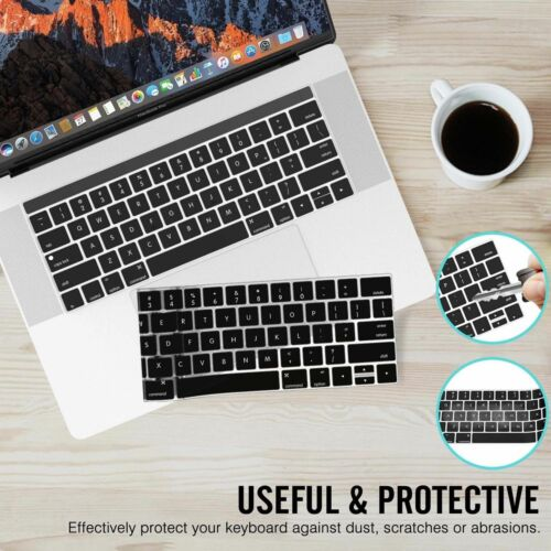 """Silicone Laptop Keyboard Cover Skin for Macbook Pro 13/"""" 15/"""" with Touch Bar 2016"""