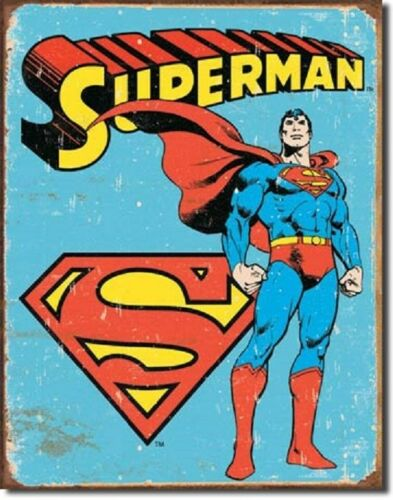 Superman Retro Metal Tin Sign Wall Art