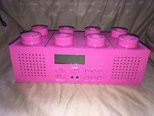Pink Lego Portable Boombox AM/FM Radio CD Player