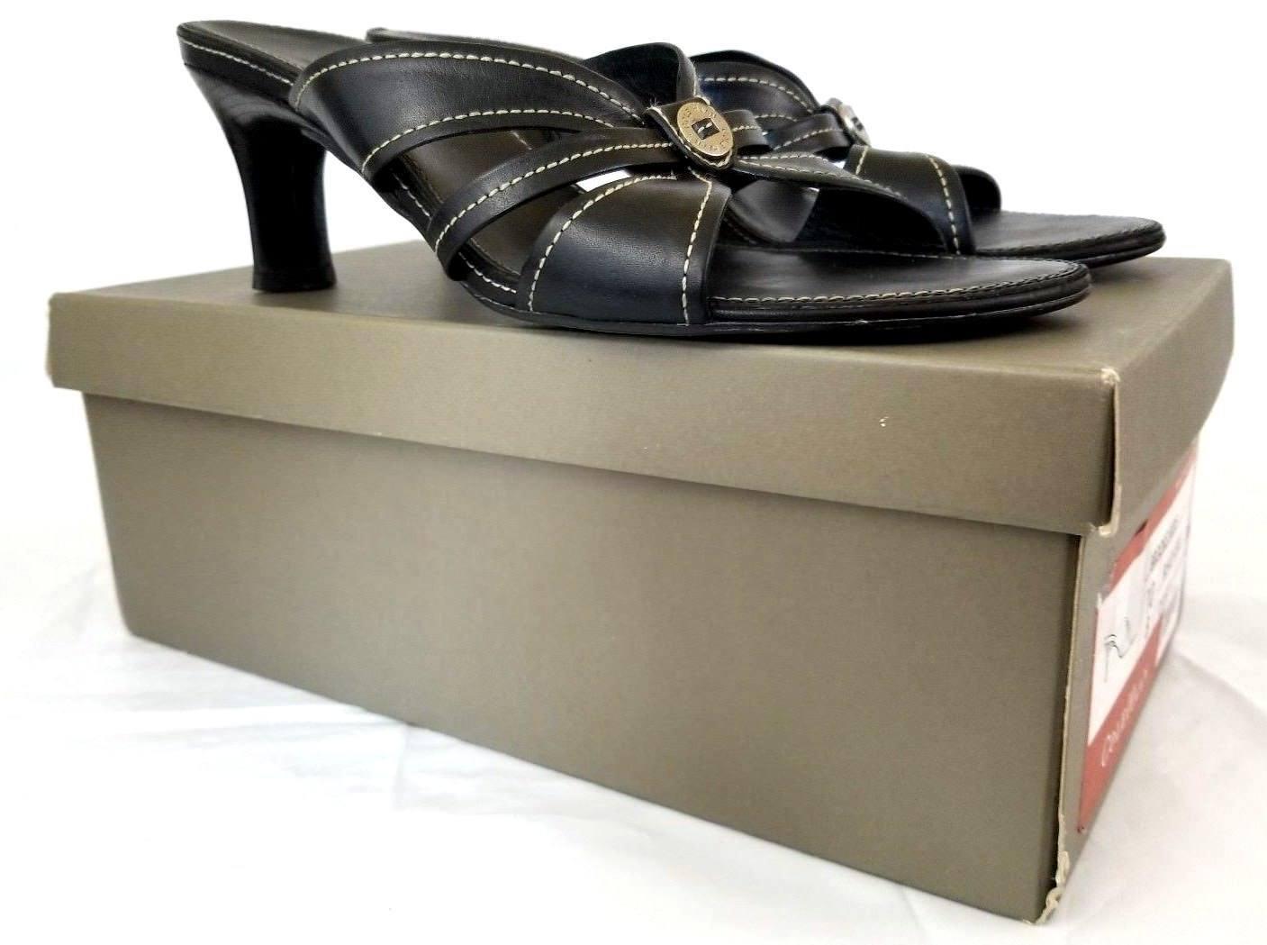 Cole Haan Women's Brooke Slide Sandals Black Calf D16921 US 10 UK 8 EU 42 Z546
