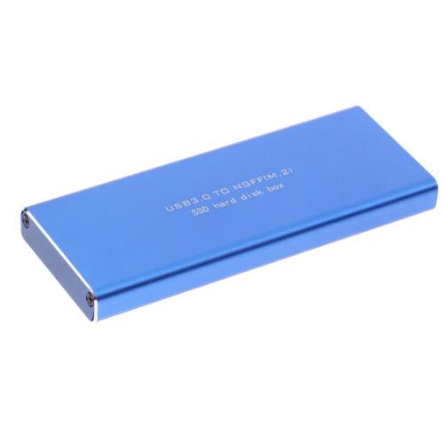 M2 SSD to USB3.0 Enlcosure Case 2280 2260 2242 SSD Housing Supprt UASP#3