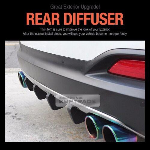Promotion Rear Bumper Diffuser Molding Garnish Trim Matt Black For All Car