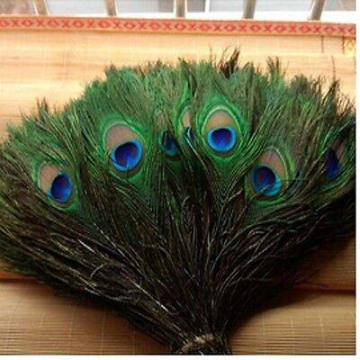 25-30 cm beige Wholesale beautiful qualities of peacock feathers eyes 10-12 in