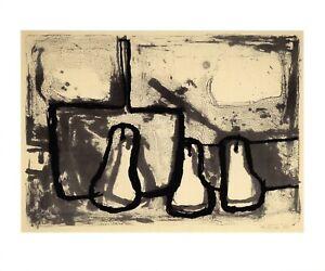 Art-Postcard-Three-Pears-and-Pan-1955-by-William-Scott-1913-89-IB7