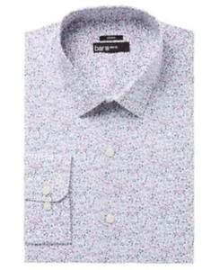 b0f8f6efb497 Bar III Slim Fit SGarden Floral Print Dress Shirt White 15 15.5 34 ...