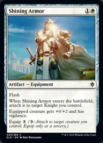 4 SHINING ARMOR ~mtg NM-M Throne of Eldraine Com x4