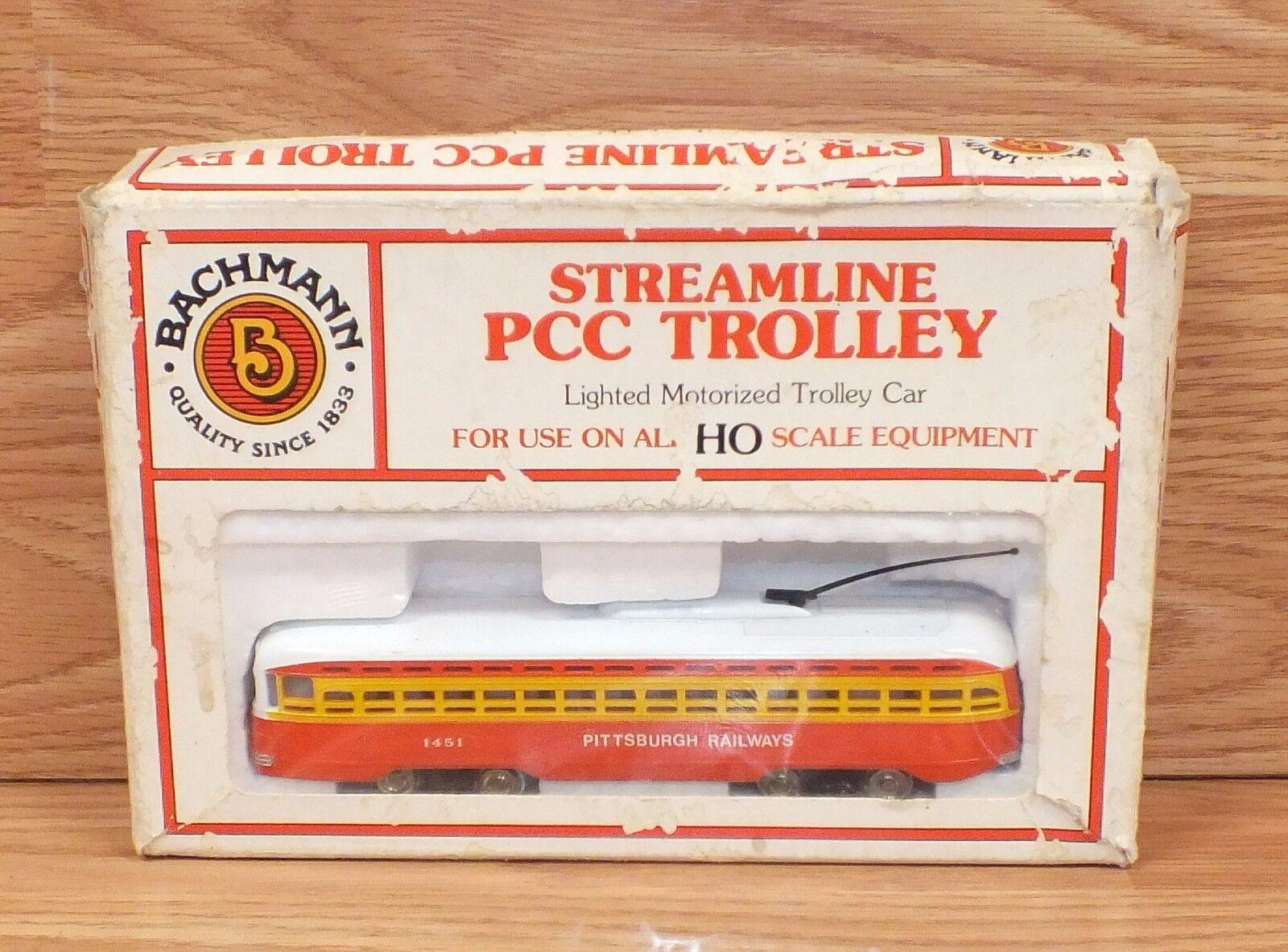 Genuine Bachmann Ho optimizar PCC Trolley - 1451 de los ferroCocheriles de Pittsburgh  lea