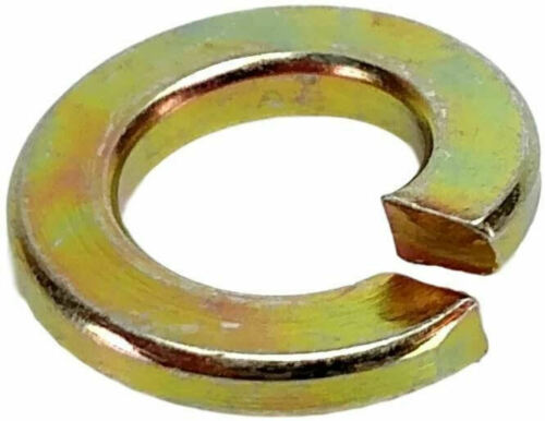 SPLIT LOCK WASHER HARDENED YELLOW ZINC FINISH 25 PER PACK