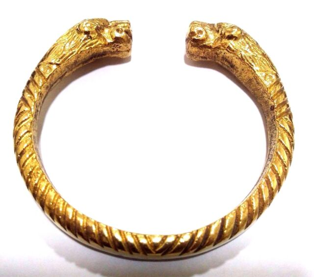 Designer Heavy Brass Bracelet Cuff Kada Kadaa Kara Men Women