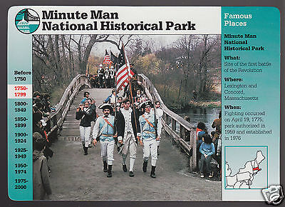 MINUTE MAN NATIONAL HISTORICAL PARK Massachusetts GROLIER STORY OF AMERICA CARD