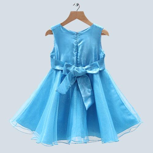 Chicas Turquesa Princess Boda bridesmaid//flowergirl Vestido De Fiesta sku061