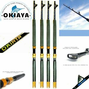 OKIAYA-FISHING-RODS-80-130LB-BLUELINE-4-PACK-FISHING-POLE-for-PENN-SHIMANO-6FT