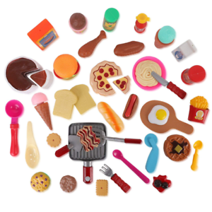 50 Piece Pretend Play Food Assortment Toy Set For Kids With Pan Kitchen Tools Ebay