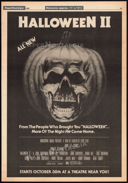 HALLOWEEN II__Original 1981 Trade AD / poster__