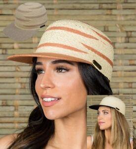 Women-039-s-summer-Gambler-Fedora-Cowboy-Cap-hats-for-Beach-vacation-travel-Raffia