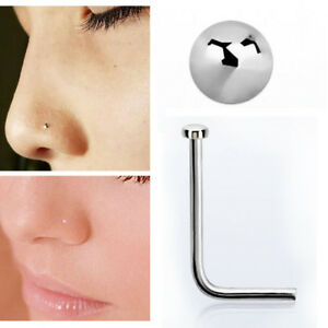 22g 0 6mm Plain Tiny 925 Silver Nose Screw Studs 1mm Flat Rounded