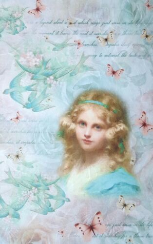 Sheet Craft Vintage Scrapbooking Little Girl 1 Rice Paper for Decoupage